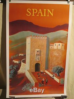 Affiche Ancienne Espagne Villemot Deco