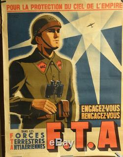 Affiche Ancienne Forces Aeriennnes Terrestres