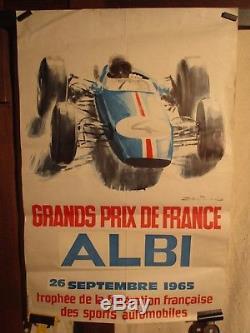 Affiche Ancienne Gp Albi 1965