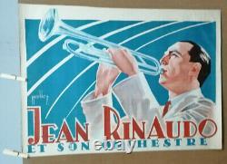 Affiche Ancienne Jean Rinaudo Et Son Orchestre Nicolich Trompette