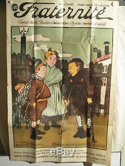 Affiche Ancienne Journal Antialcoolisme Jeunes Annees 1925