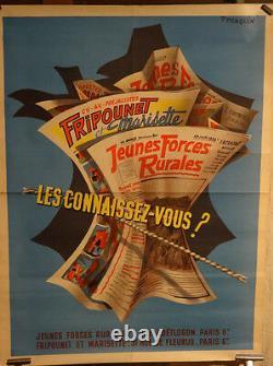 Affiche Ancienne Journaux Bd Fripounet Marisette Etc