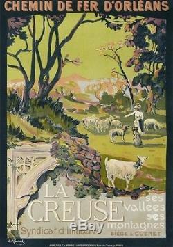 Affiche Ancienne La Creuse Ses Vallees Ses Montagnes Syndicat D Initiative Siege