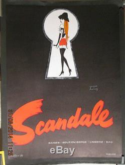 Affiche Ancienne Lingerie Femme Humour Scandale