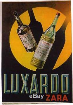 Affiche Ancienne Luxardo Milan Milano Italie