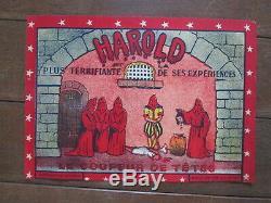 Affiche Ancienne Magie Magicien Prestidigitateur Harold Le coupeur de Tete 1930
