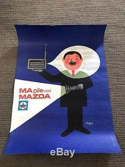 Affiche Ancienne Mazda (Savignac 1965)