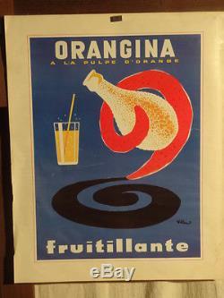 Affiche Ancienne Orangina Villemot