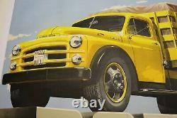 Affiche Ancienne Originale Camion Dodge Wc USA Truck 1950 1960
