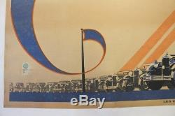 Affiche Ancienne Originale Citroen 1930 C4 C6 Kegresse 5hp Rosalie Louys Cij Jrd