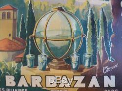 Affiche Ancienne Originale Entoilée Barbazan Loures Barrousse St Bertrand