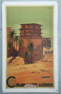 Affiche Ancienne Originale Entoilée L'aures Algérie 1948
