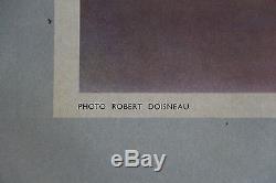 Affiche Ancienne Originale Simca 9 Photo Robert Doisneau