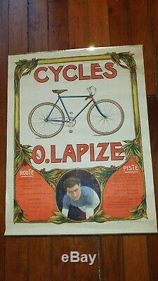 Affiche Ancienne Originale Velo Ancien Lapize