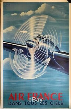 Affiche Ancienne PERCEVAL RÉÉDITION Originale Musée AIR FRANCE 1998 N°A 33
