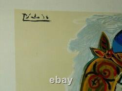Affiche Ancienne PICASSO Menton 1974 Mourlot litho Peinture femme Nue Poster