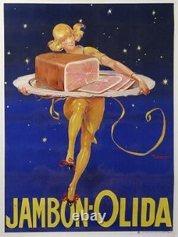 Affiche Ancienne Pour Jambon Olida-vintage Poster For Olida Ham By Ribet 1930