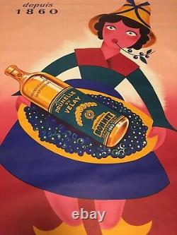Affiche Ancienne Prunelle Du Velay
