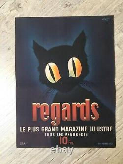 Affiche Ancienne Regards Magazine Illustré C. GUION 1945
