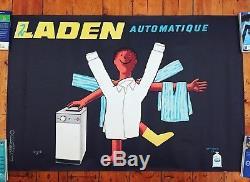 Affiche Ancienne Savignac Laden Automatique 1965