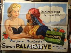 Affiche Ancienne Savon Palmolive Femme Gitane Lignes Main