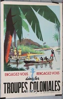 Affiche Ancienne Sogno Engagez-vous Rengagez-vous Dans Les Troupes Coloniales