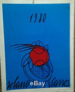 Affiche Ancienne Tennis Roland Garros 1980 Adami