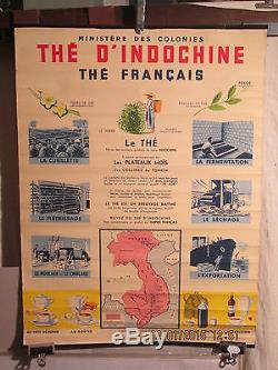 Affiche Ancienne The D'indochine Rare