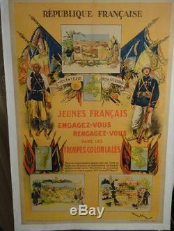 Affiche Ancienne Troupes Coloniales 1929