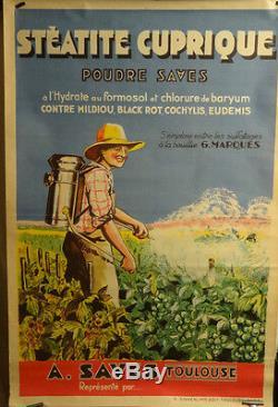 Affiche Ancienne Vigne Traitement Agriculture Toulouse