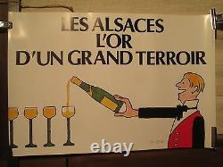 Affiche Ancienne Vin Alsace Savignac