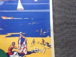 Affiche Ancienne Vintage Alo Charles Jean Chemin De Fer Plm Gien Chteau Plages