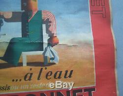 Affiche Ancienne Vintage Poster Dubo Dubon Dubonnet Cassandre 1935