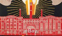Affiche Art Deco Originale Brodovitch Bières Veuve J. Petit Brasserie 1921