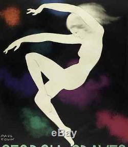 Affiche Art Déco Originale Paul Colin Georgia Graves Ballet Danse 1928