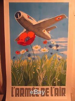 Affiche Aviation Armee De L'air Jet