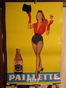 Affiche Biere Paillette Pin Up Sympa