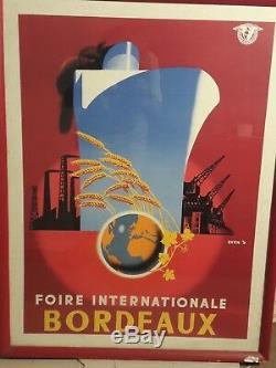 Affiche Bordeaux Bateau Port Graphique Deco