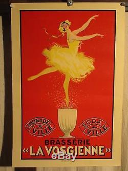 Affiche Brasserie Vosges Danseuse Deco Superbe