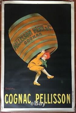 Affiche COGNAC PELLISSON par Leonnetto Cappiello 80x120cm 1907