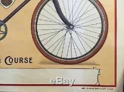 Affiche CYCLES ED Elégante, gracieuse, rigide VELO Bicyclette années 1910