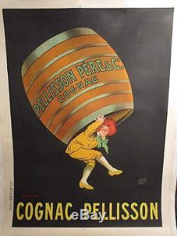 Affiche Capiello Cognac Pelisson Grand Format Garcon Tonneau