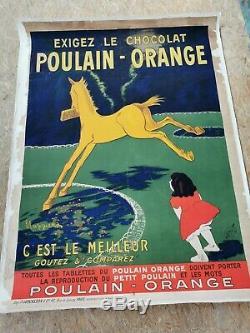 Affiche Cappiello Poulain Entoilee