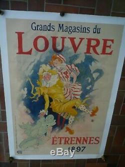 Affiche Cheret Grands Magasins Du Louvre