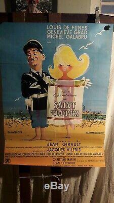 Affiche Cinema De Funes Le Gendarme De St Tropez 1964