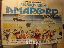 Affiche Cinema Fellini Navire Nostalgie Amarcord 1973