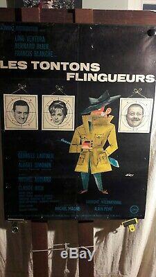 Affiche Cinema Les Tontons Flingueurs 1963 Siry