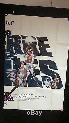 Affiche Cinema USA Guerre Des Etoiles En 2 Panneaux