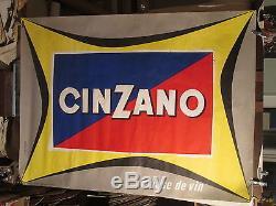 Affiche Cinzano Lettrages Couleur Composition Jean Colin