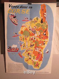 Affiche Corse Eclaireurs Scouts Itineraires Jolie